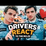 Carlos Sainz and Lando Norris React to the MCL35