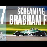 Screaming Brabham-Ford BT38 rages around Goodwood