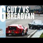 Cut 7 E-type and Ferrari Breadvan in sideways fight