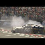 Timmy Hill does interview and burnout at the same time| iRacing eNASCAR Pro Invitational Series