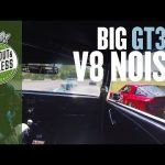 Onboard mighty V8 Shelby Mustang GT350 growling round Road Atlanta