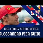 The WEC Family stands united: Alessandro Pier Guidi
