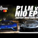 V8 McLaren P1 LM vs electric NIO EP9 at Goodwood | Fastest road legal cars ever at FOS