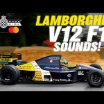 Screaming Lamborghini V12-engined F1 onboard at FOS