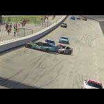 Suarez gets loose, triggers wreck at virtual Dover    iRacing Pro Invitational Series