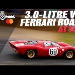 Stunning V12 Ferrari 312P howls as it's thrashed up Goodwood hill