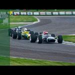 Mighty V12 BRM battles V8 F1 Lotus and F2 Lotus at Goodwood