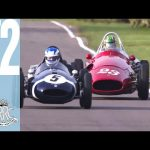 Tense Formula 1 Cooper v Maserati  battle at Goodwood