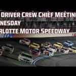 LIVE NASCAR Cup Series Drivers Meeting | Alsco Uniforms 500 at Charlotte Motor Speedway