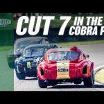 Jaguar E-Type in the Cobra pit at Goodwood Revival