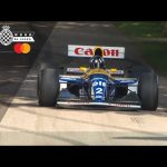 Damon Hill drives screaming 1993 Williams FW13 at Goodwood