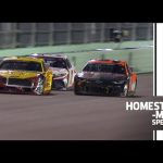 Hard racing: Logano races Elliott hard two laps down | NASCAR Cup Series at Homestead