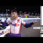 Denny Hamlin hits 'Jordan shrug' after dominant win   NASCAR